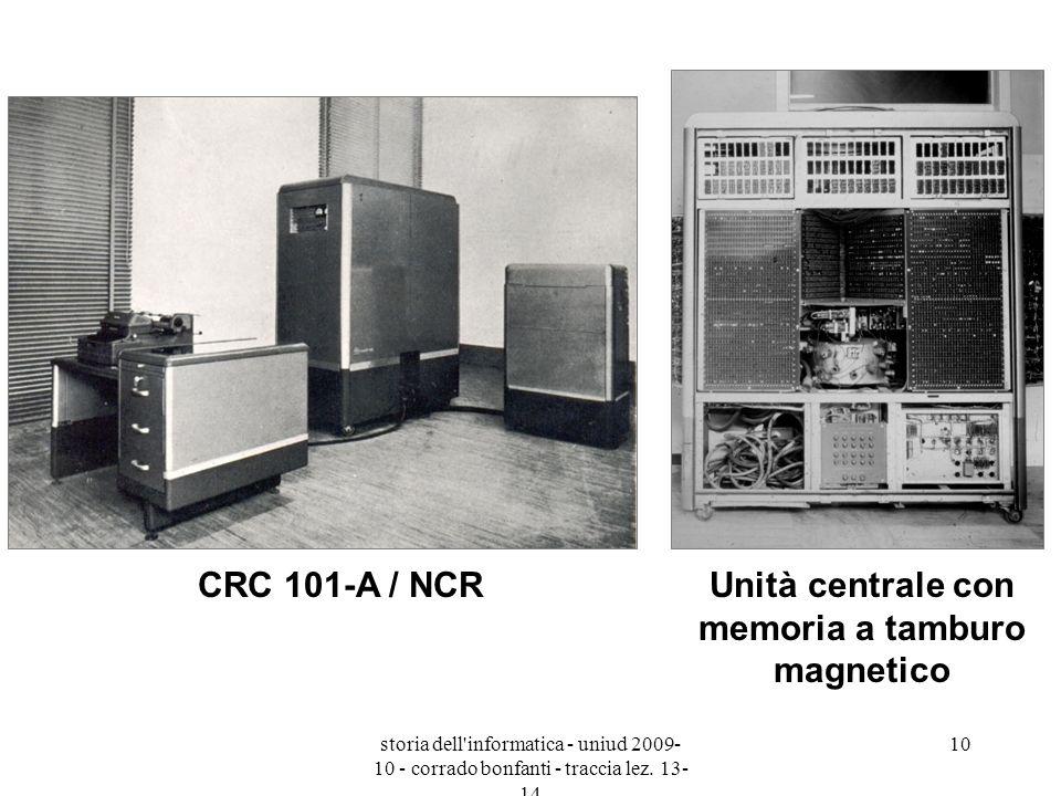 Unità centrale con memoria a tamburo magnetico