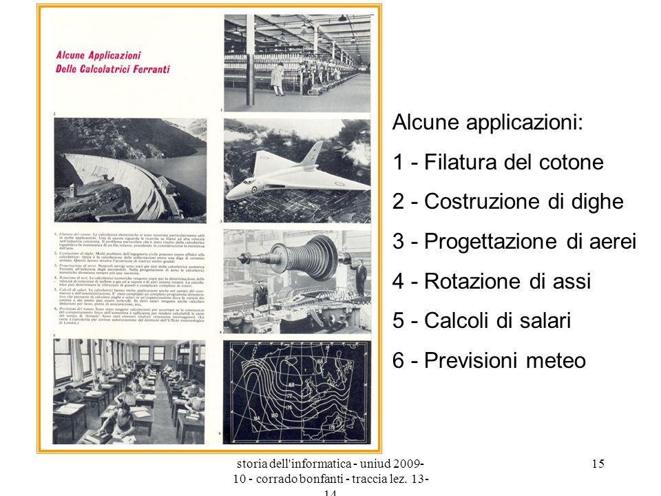 3 - Progettazione di aerei 4 - Rotazione di assi 5 - Calcoli di salari