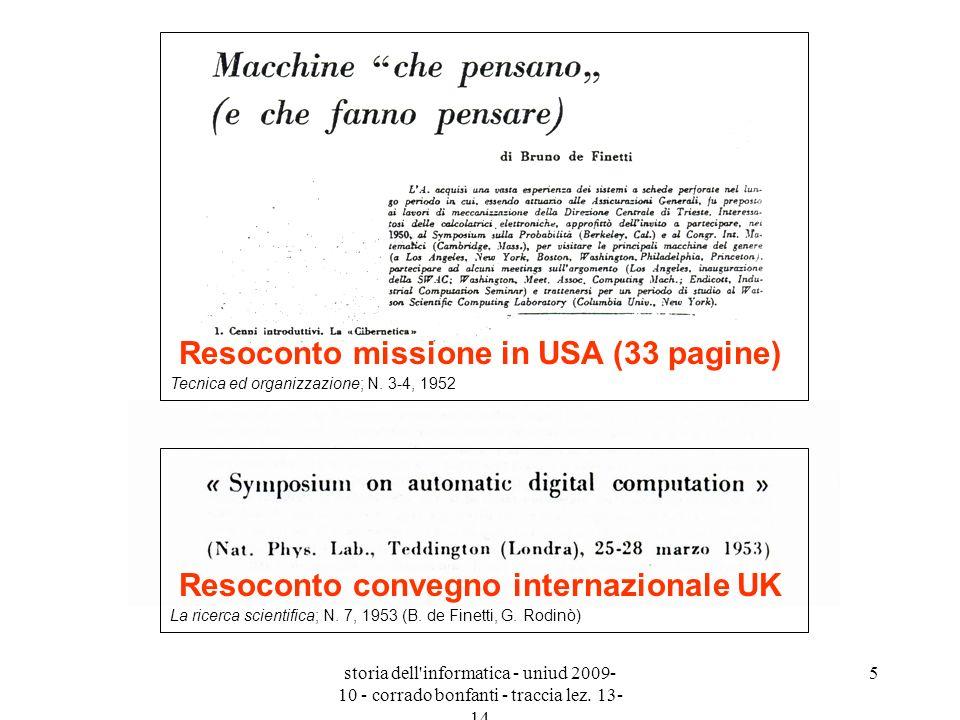 Resoconto missione in USA (33 pagine)