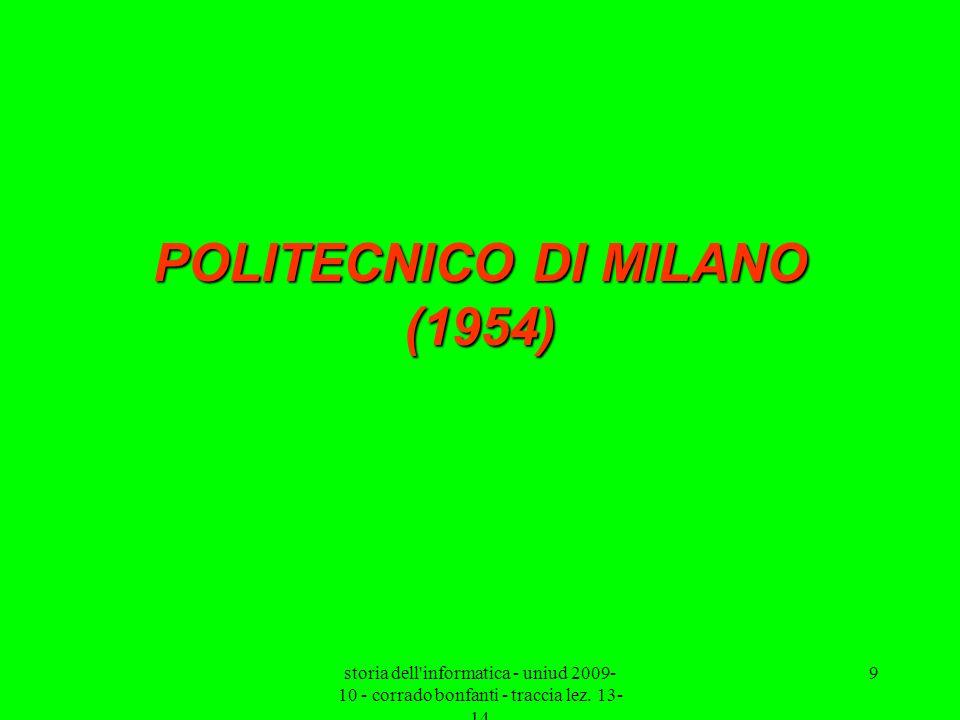 POLITECNICO DI MILANO (1954)
