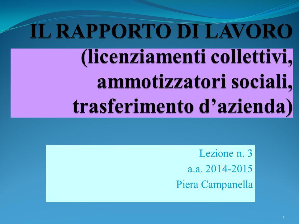 Lezione n. 3 a.a. 2014-2015 Piera Campanella