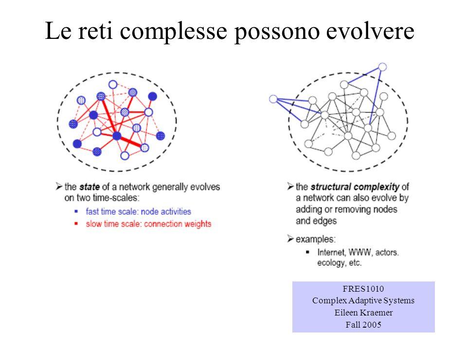 Le reti complesse possono evolvere