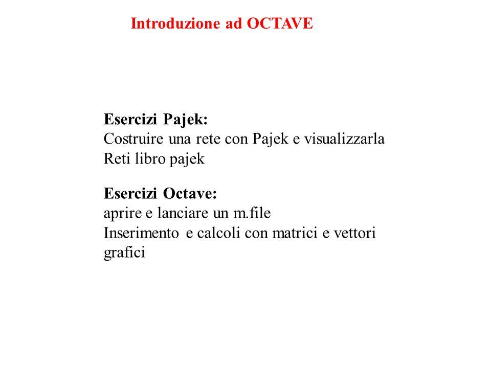 Introduzione ad OCTAVE