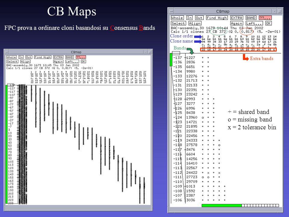 CB Maps FPC prova a ordinare cloni basandosi su Consensus Bands