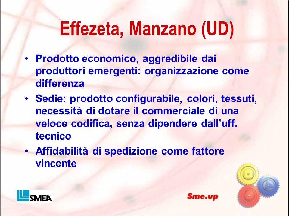 Effezeta, Manzano (UD) Prodotto economico, aggredibile dai produttori emergenti: organizzazione come differenza.