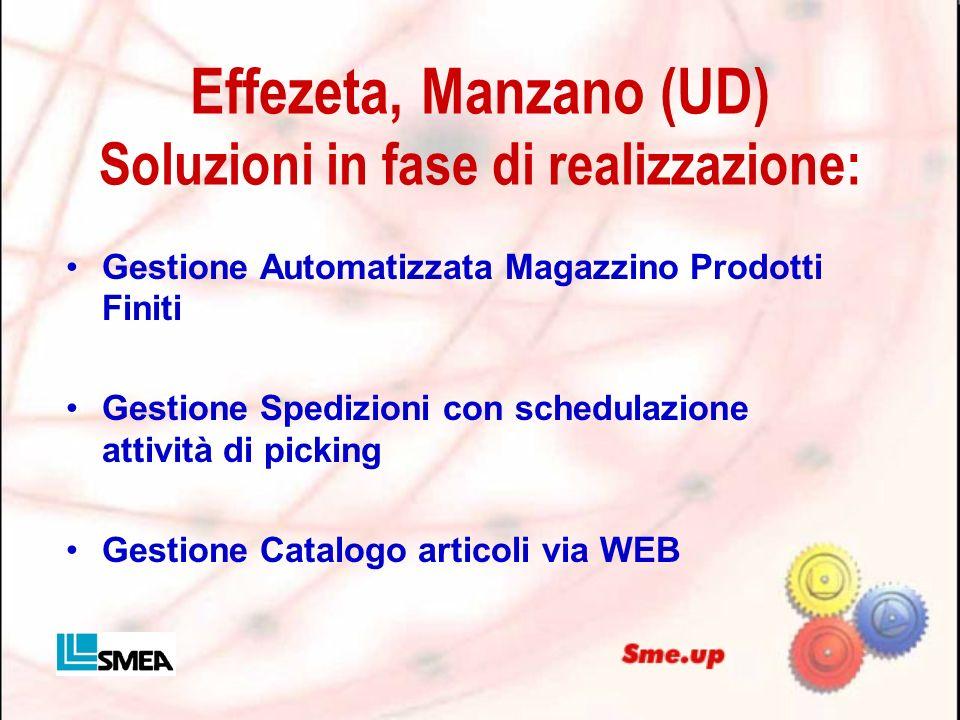 Effezeta, Manzano (UD) Soluzioni in fase di realizzazione: