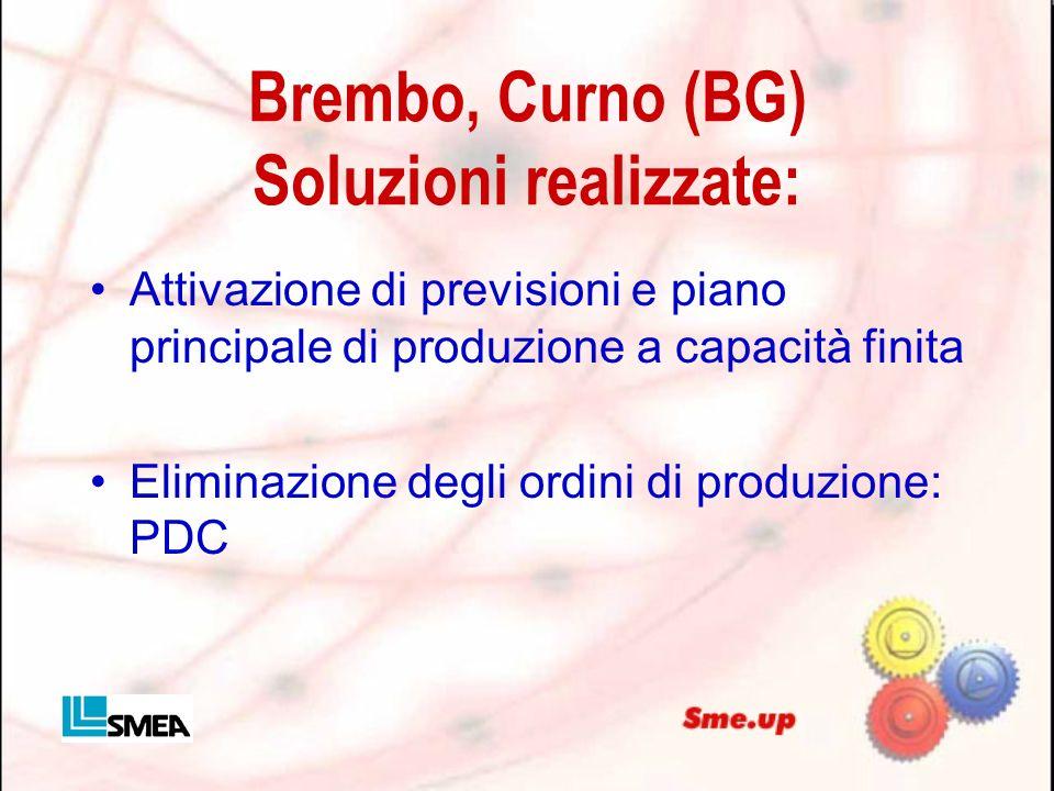Brembo, Curno (BG) Soluzioni realizzate: