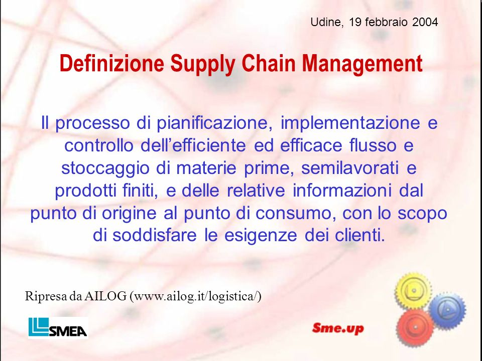 Definizione Supply Chain Management