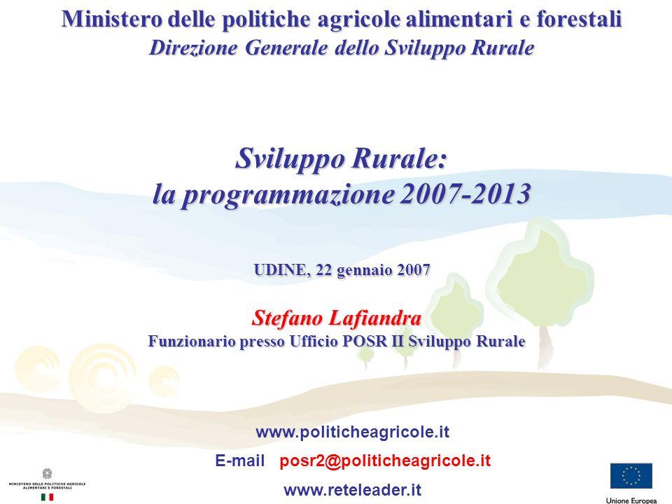 Sviluppo Rurale: la programmazione 2007-2013