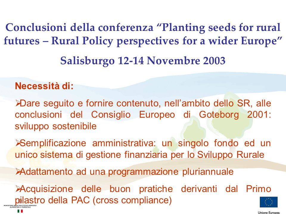 Conclusioni della conferenza Planting seeds for rural futures – Rural Policy perspectives for a wider Europe