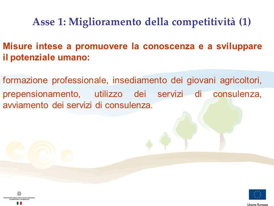 Asse 1: Miglioramento della competitività (1)