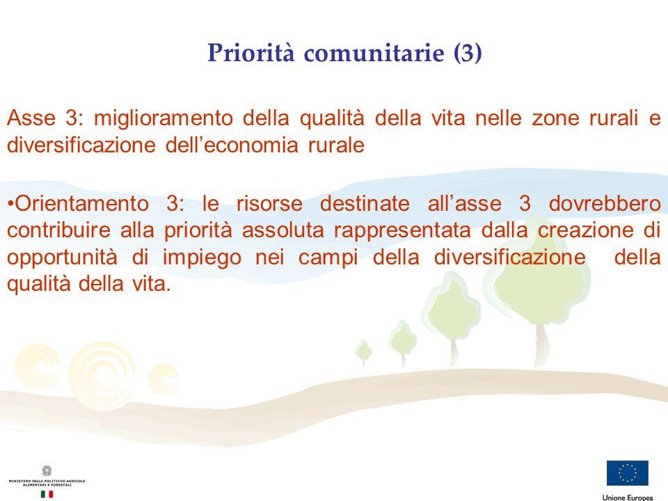 Priorità comunitarie (3)