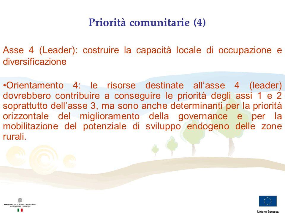 Priorità comunitarie (4)