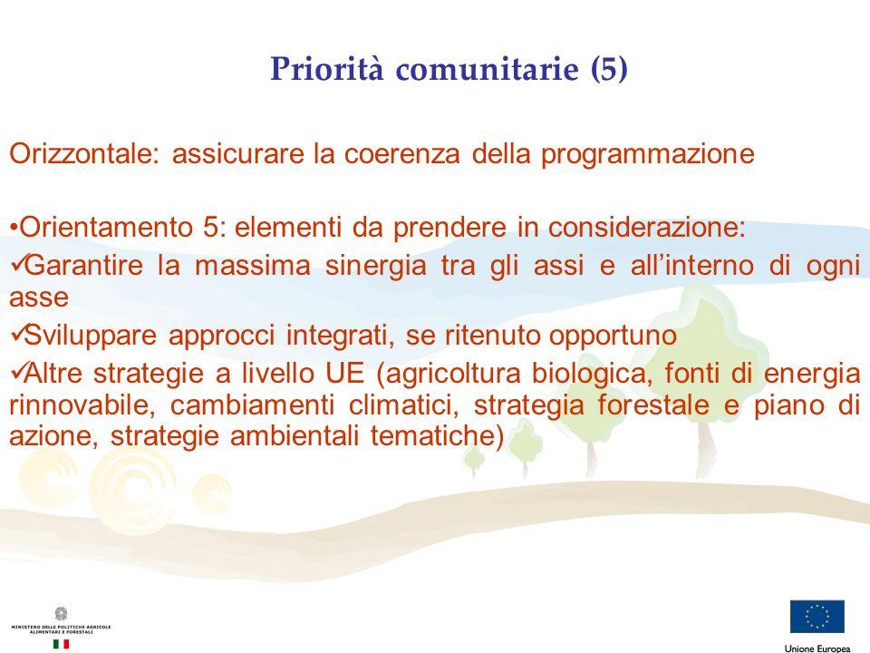 Priorità comunitarie (5)