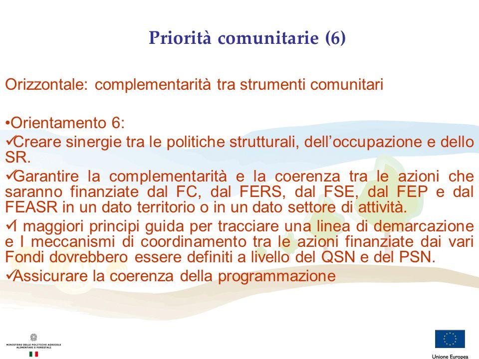 Priorità comunitarie (6)