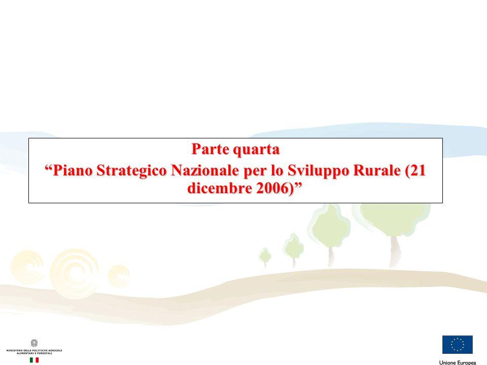 Piano Strategico Nazionale per lo Sviluppo Rurale (21 dicembre 2006)