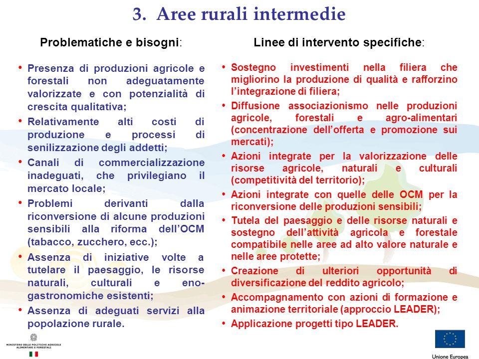3. Aree rurali intermedie