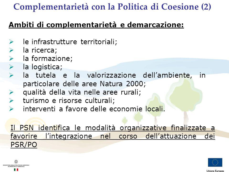 Complementarietà con la Politica di Coesione (2)