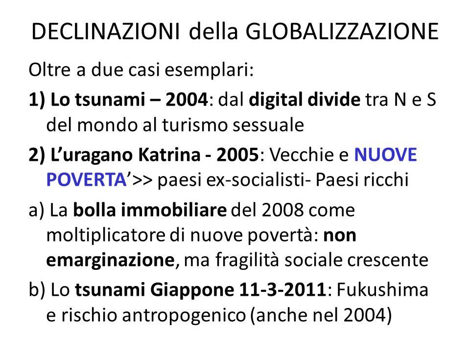 DECLINAZIONI della GLOBALIZZAZIONE