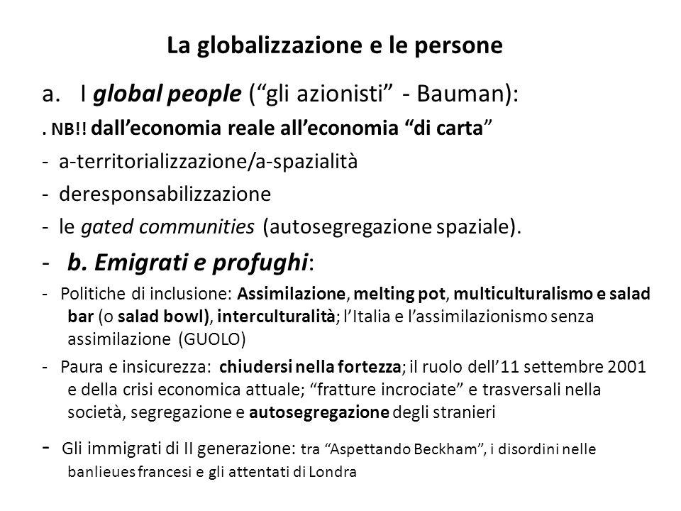 La globalizzazione e le persone