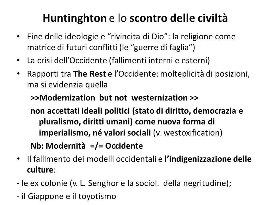 Huntinghton e lo scontro delle civiltà
