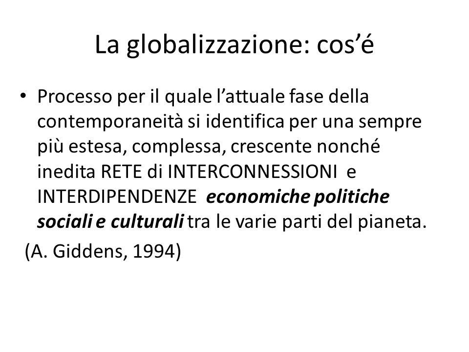 La globalizzazione: cos'é