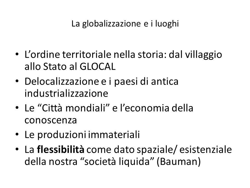 La globalizzazione e i luoghi