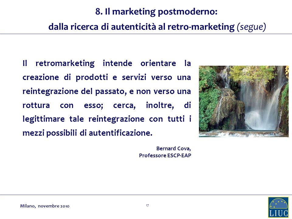 8. Il marketing postmoderno: