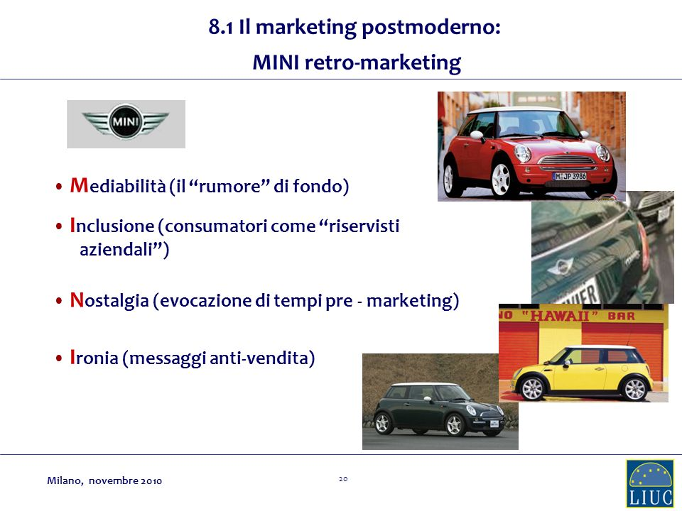 8.1 Il marketing postmoderno: