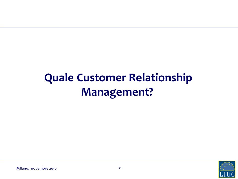 Quale Customer Relationship Management