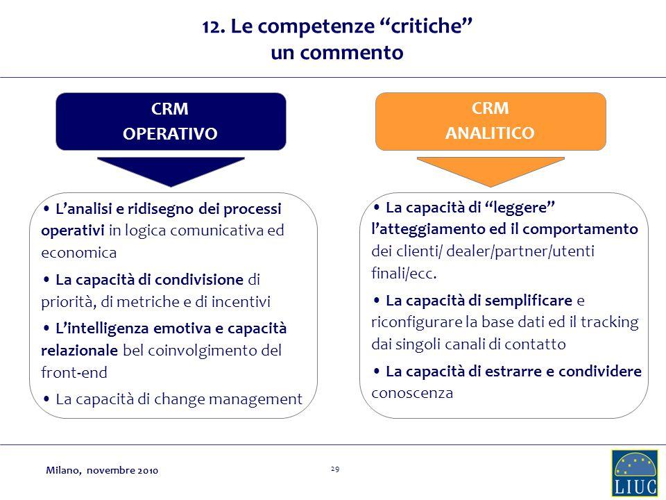 12. Le competenze critiche un commento
