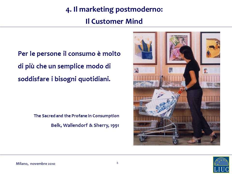 4. Il marketing postmoderno:
