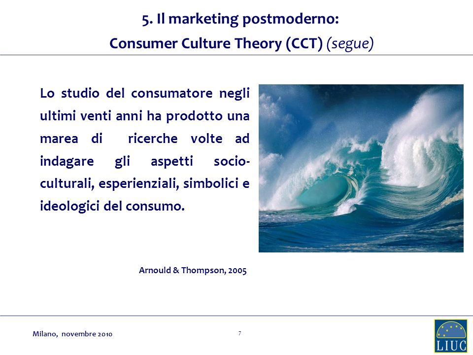 5. Il marketing postmoderno: