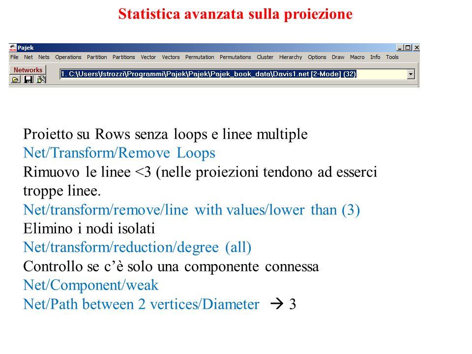 Statistica avanzata sulla proiezione