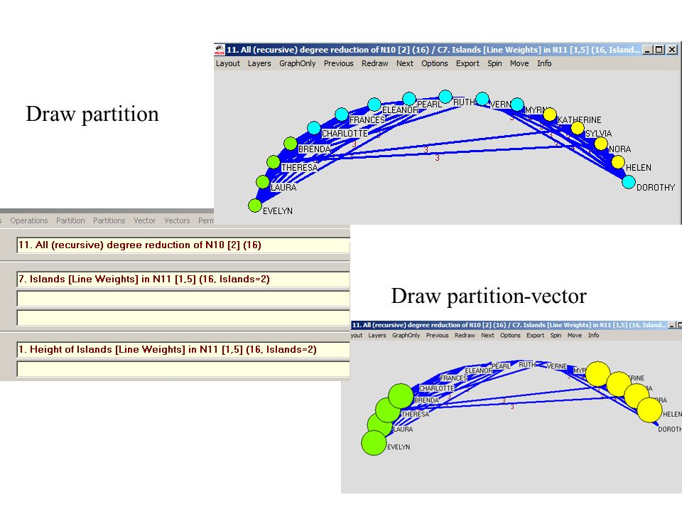 Draw partition Draw partition-vector