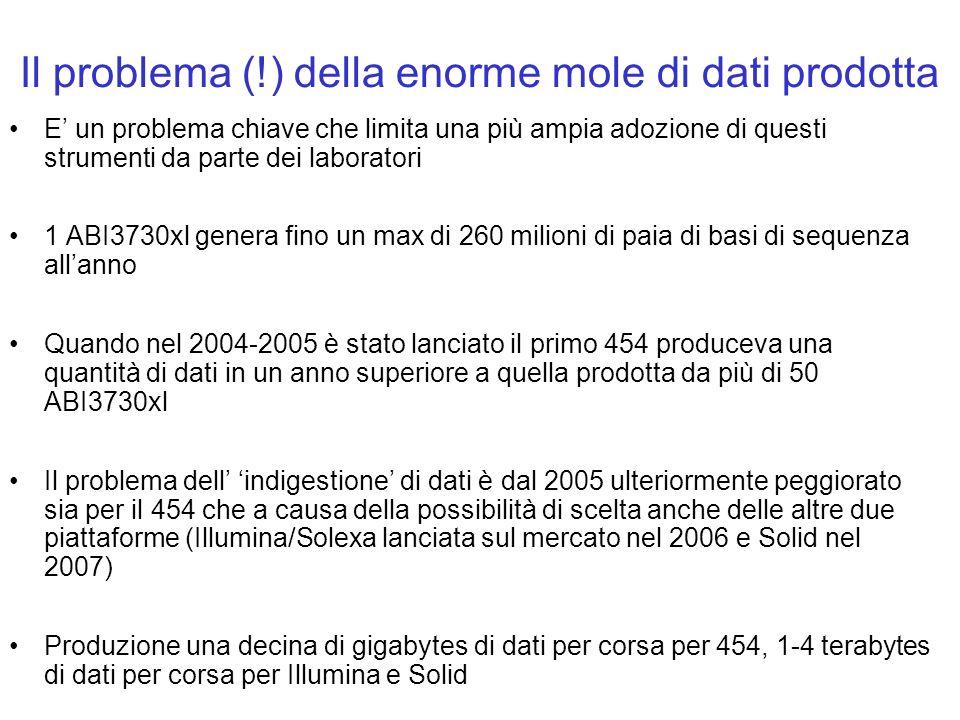 Il problema (!) della enorme mole di dati prodotta