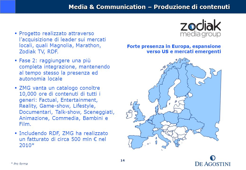 Media & Communication – Produzione di contenuti