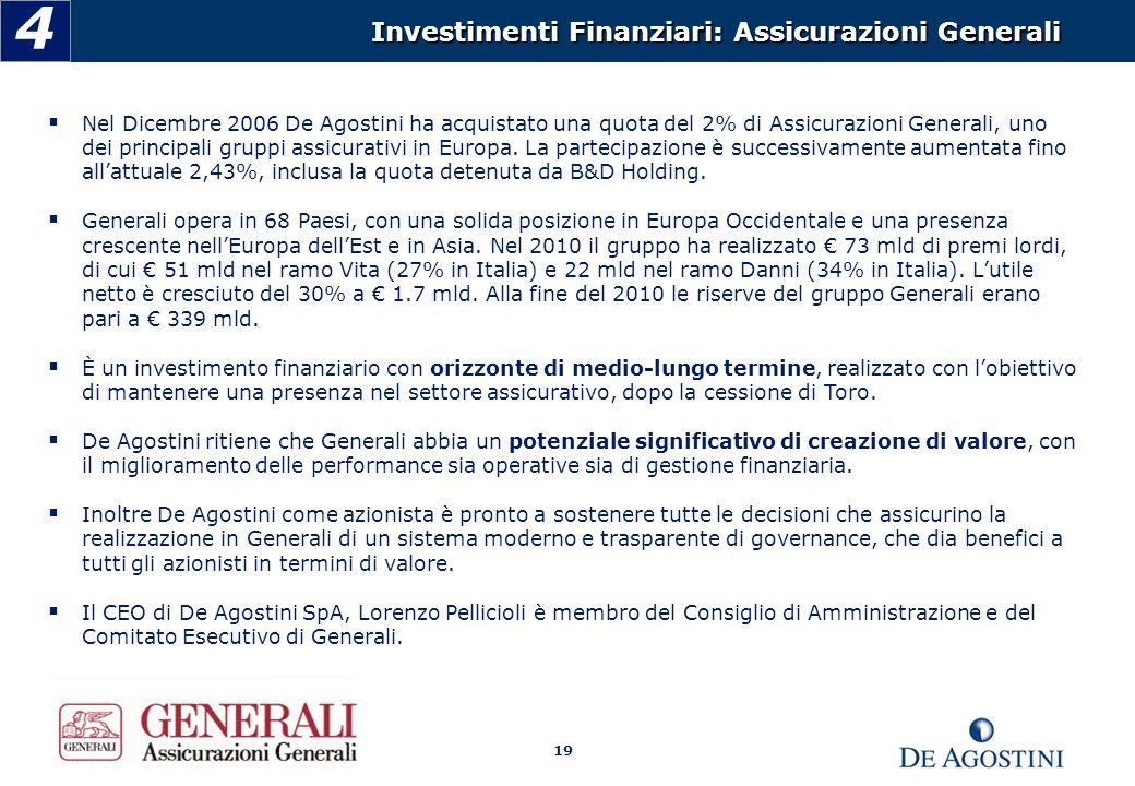 4 Investimenti Finanziari: Assicurazioni Generali