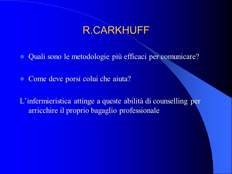 R.CARKHUFF Quali sono le metodologie più efficaci per comunicare