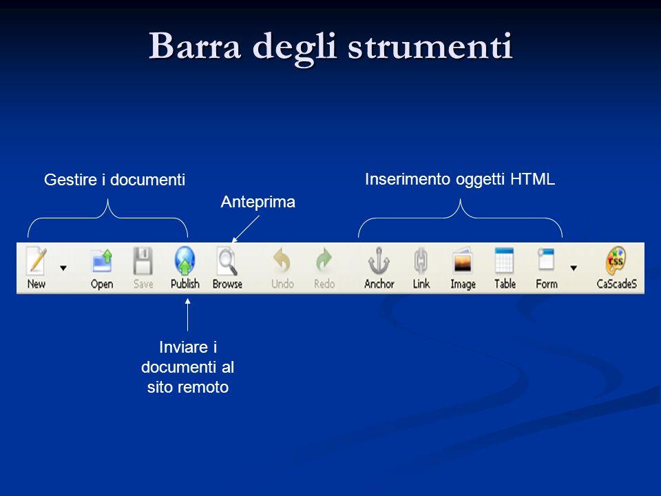 Inviare i documenti al sito remoto