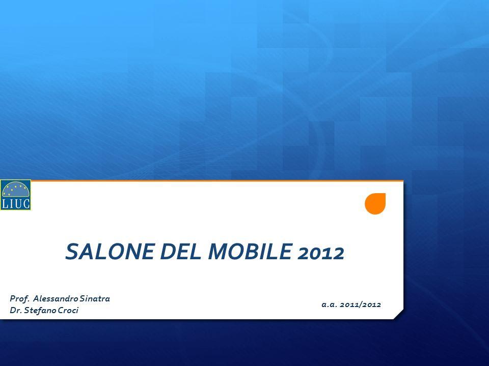 SALONE DEL MOBILE 2012 Prof. Alessandro Sinatra a.a. 2011/2012