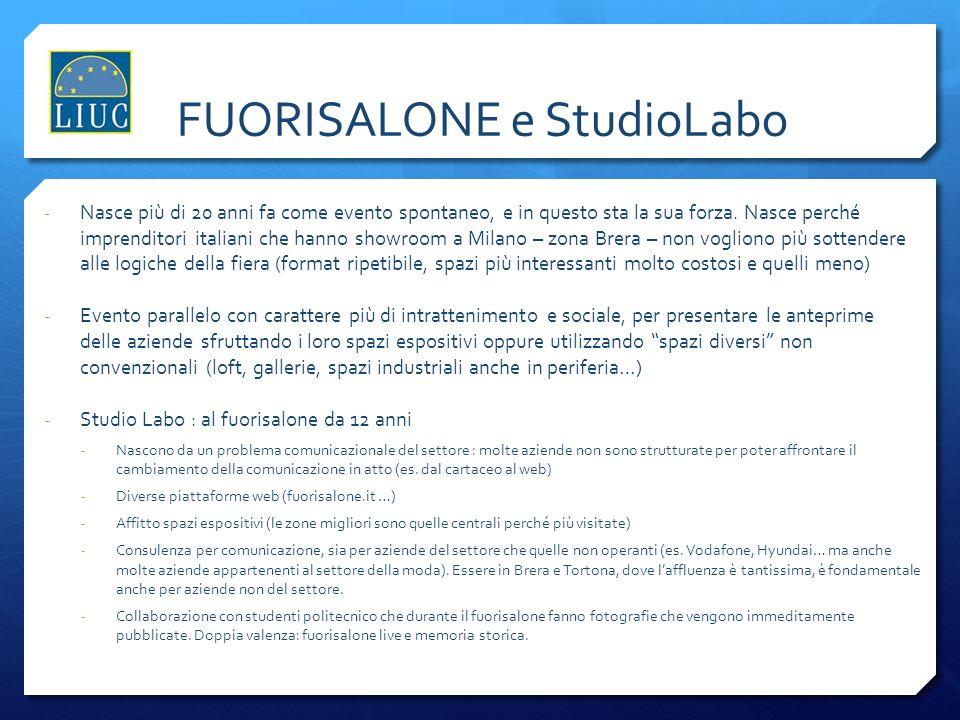 FUORISALONE e StudioLabo