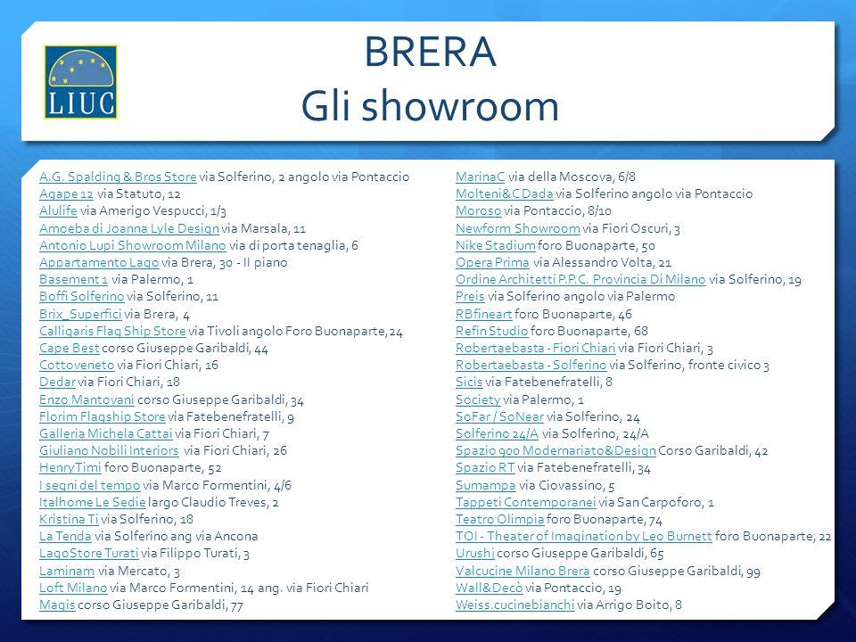 BRERA Gli showroom