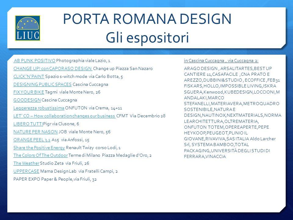 PORTA ROMANA DESIGN Gli espositori