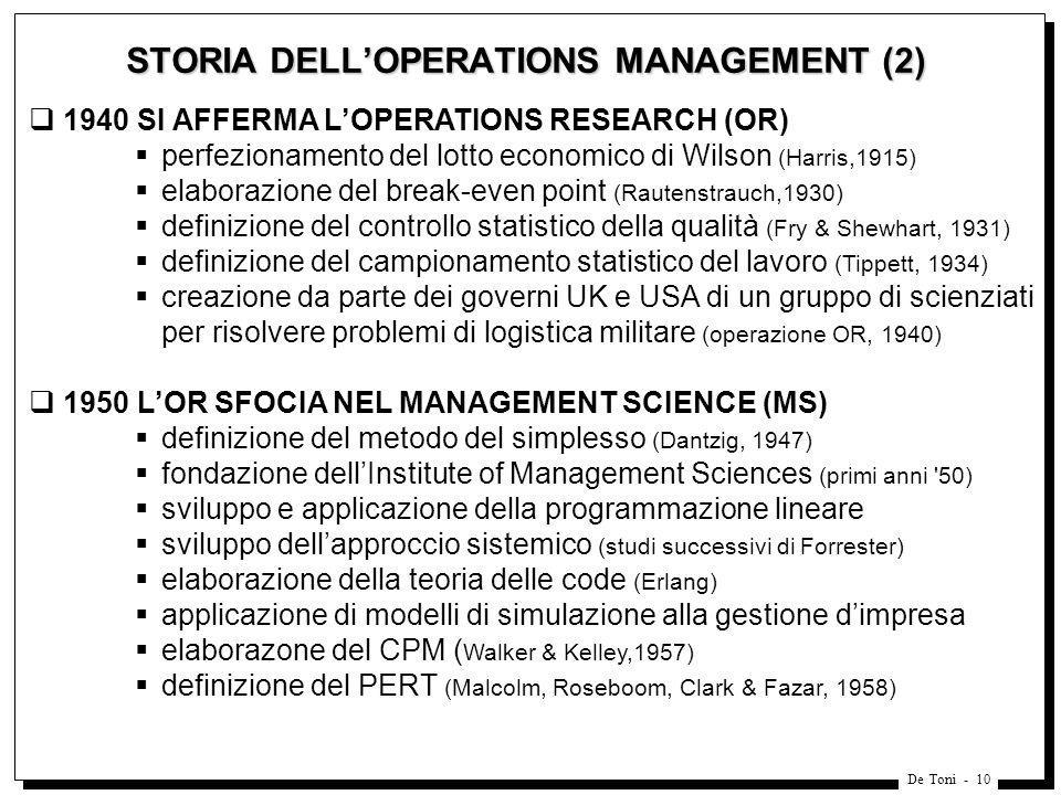 STORIA DELL'OPERATIONS MANAGEMENT (2)