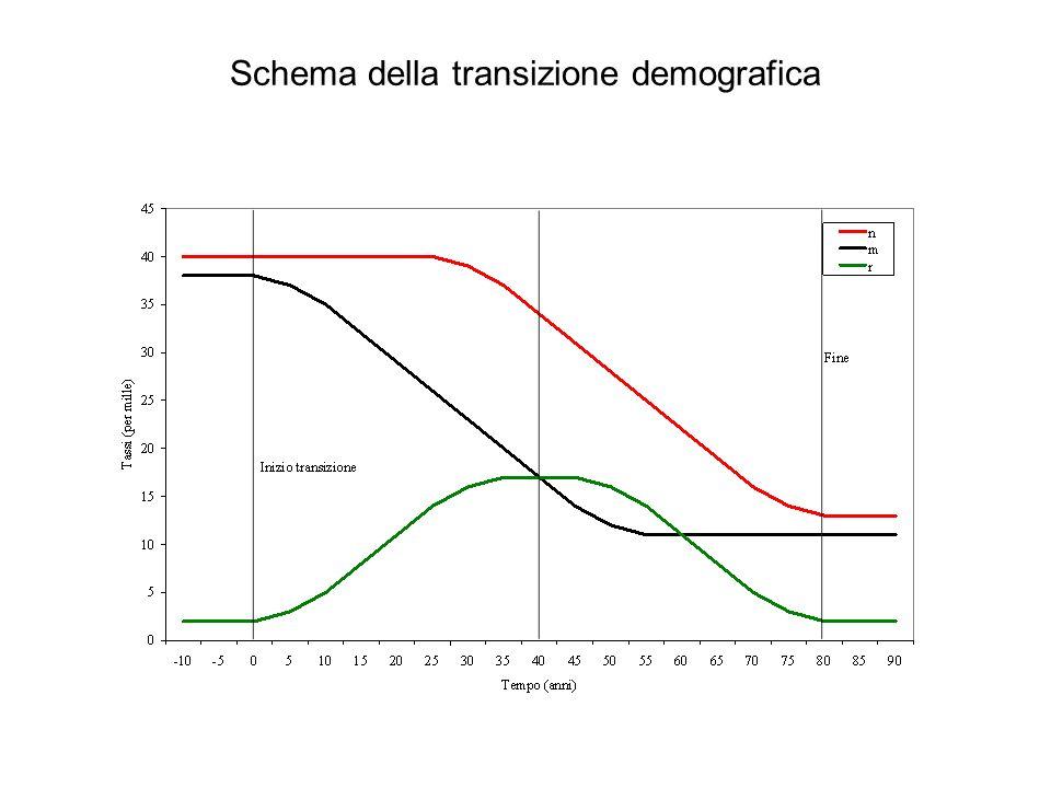 Schema della transizione demografica