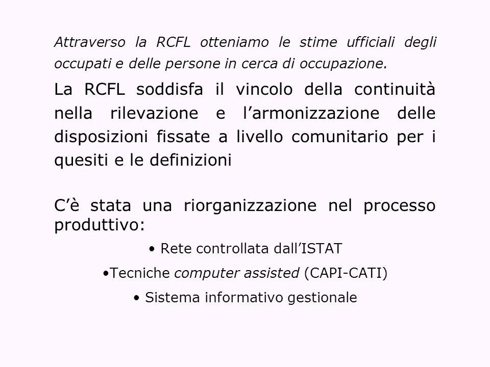 C'è stata una riorganizzazione nel processo produttivo: