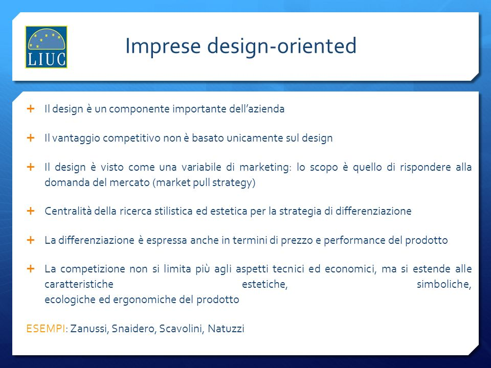 Imprese design-oriented