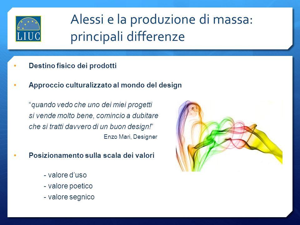 Alessi e la produzione di massa: principali differenze