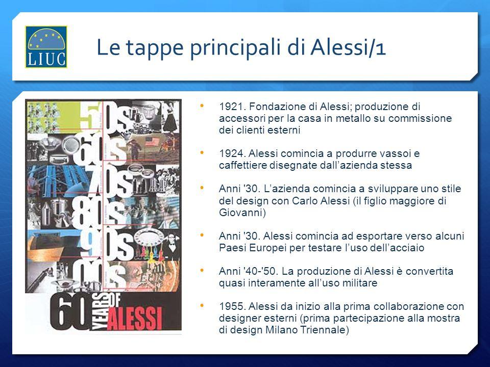Le tappe principali di Alessi/1